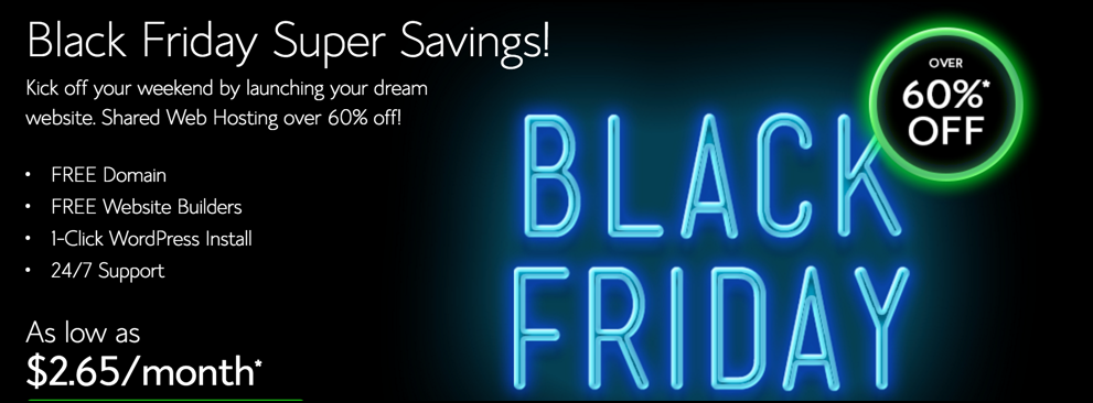 Bluehost Black Friday & Cyber Monday Deal