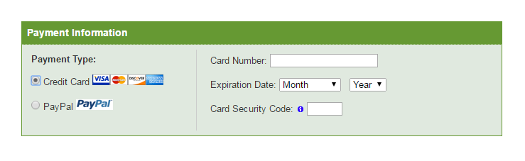 iPage - Enter Payment Details