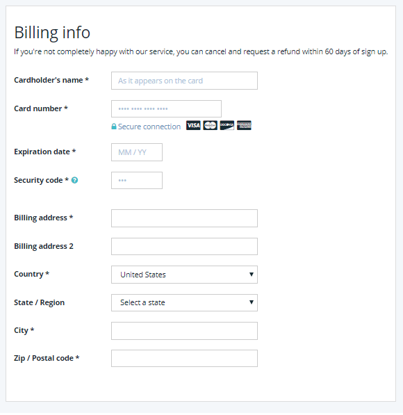 WP Engine - Billing Info