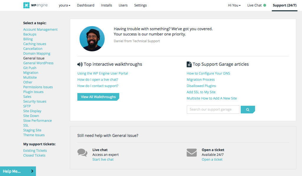 WP Engine Support Portal Locations